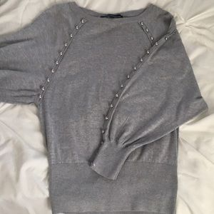 FRENCH CONNECTION HEATHER GRAY PULLOVER